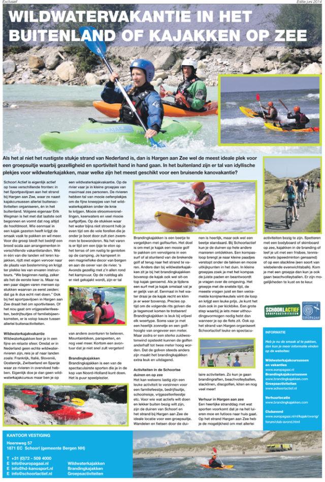 Kajakreizen - Wildwatervakantie in het buitenland of kajakken op zee