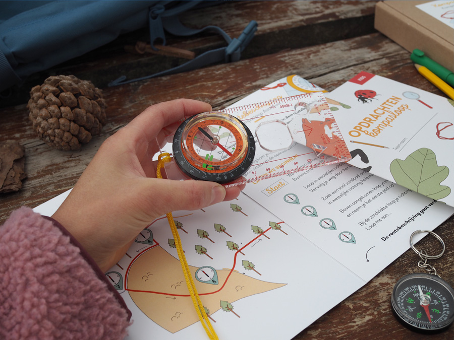 Kompasloop in de Schoorlse duinen. Een leuk uitje voor families en gezinnen met kinderen.
