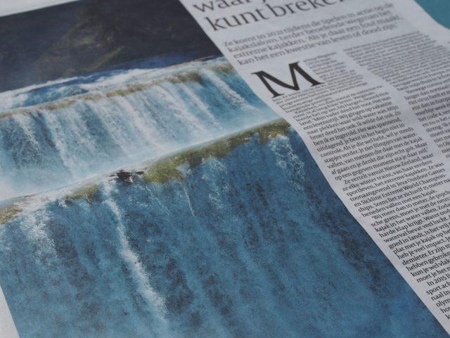 Kajakreizen - Martina in de Volkskrant