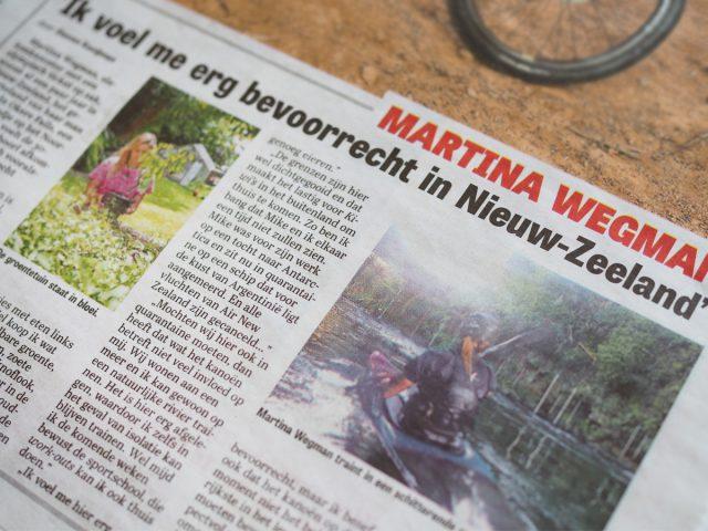 Kajakreizen - Martina in het nieuws