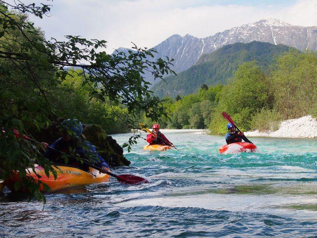 Kajakreizen in Slovenië Bohinjska