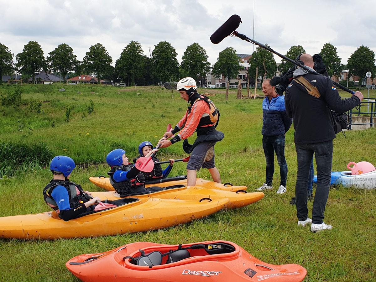 De Zappsport battle op de wildwaterbaan in Hardenberg.